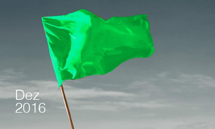Bandeira verde para dezembro de 2016