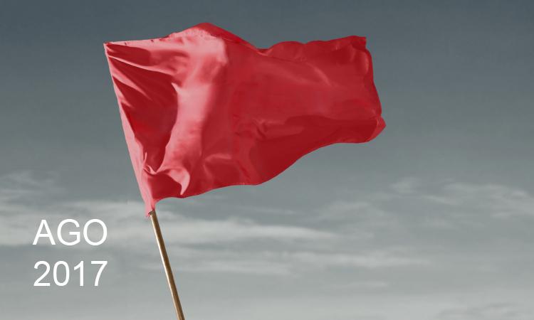 A bandeira vermelha é acionada em agosto