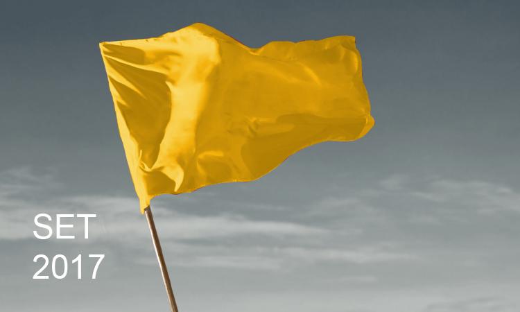 Bandeira amarela em vigor no mês de setembro