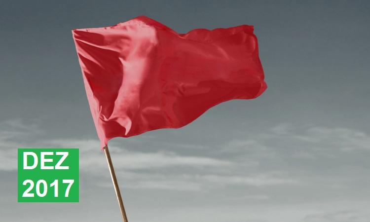Dezembro tem bandeira tarifária vermelha no patamar 1