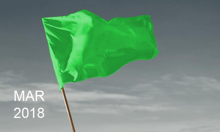 Bandeira verde segue em março